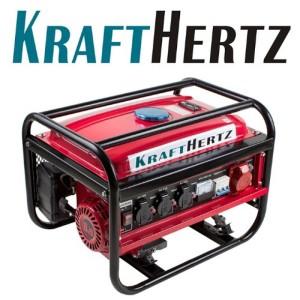 KRAFTHERTZ Benzin Power Strom-Generator 4,8 kW (6,5 PS) Stromerzeuger Stromaggregat 3000 Watt